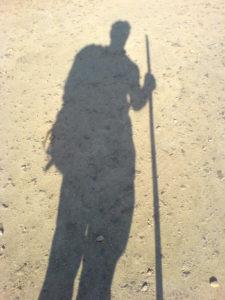 Schatten eines Pilgers