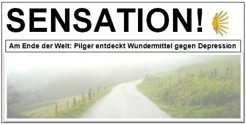 Sensation Zeitungsmeldung zum Jakobsweg