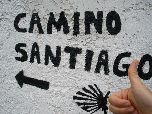 Camino de Santiago Wegweiser