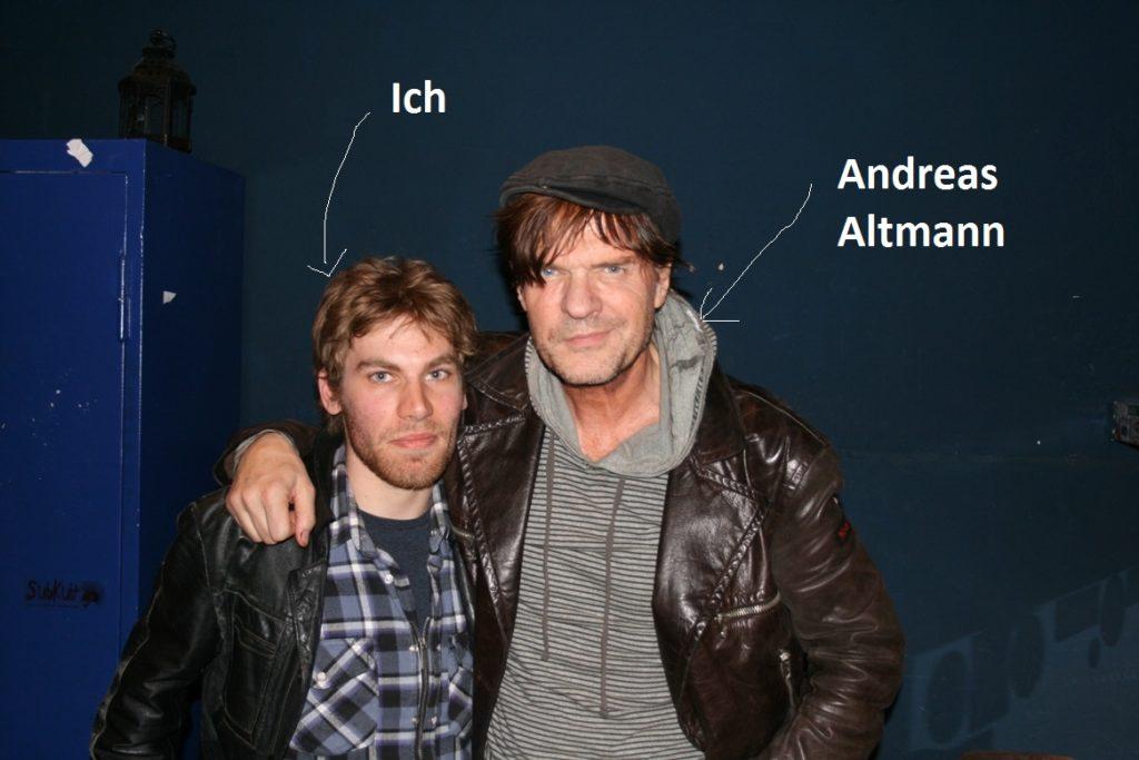 Ich mit Andreas Altmann beim Interview