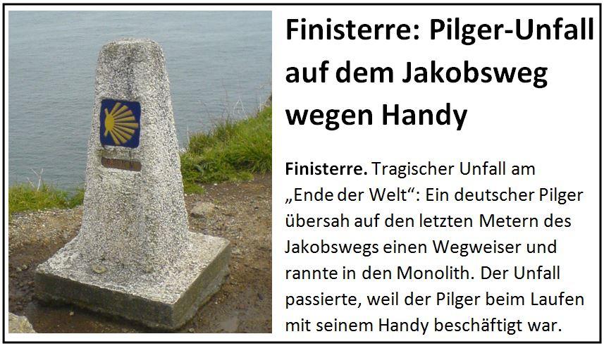 Zeitungsmeldung Jakobsweg