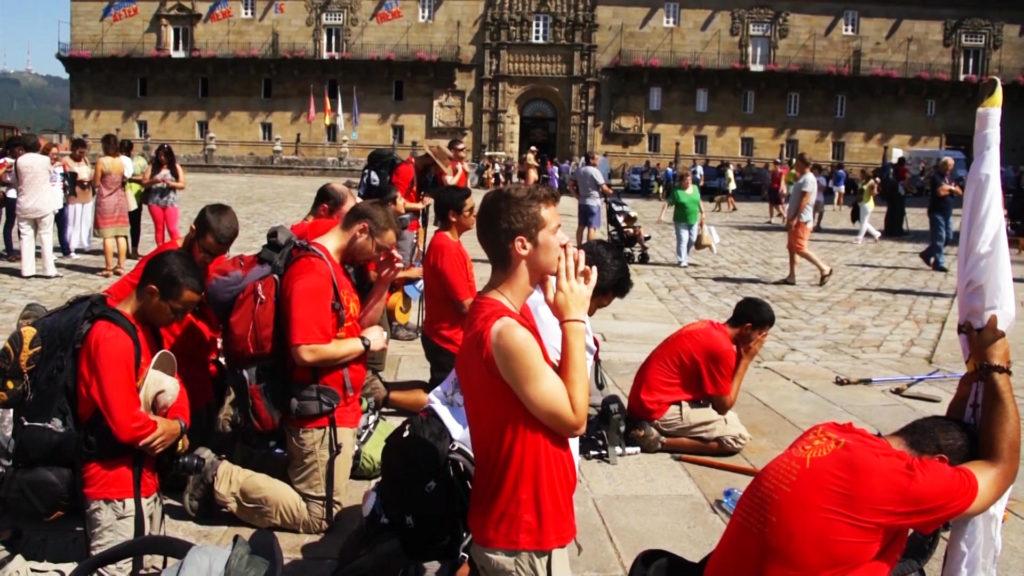 PilgerInnen in Santiago