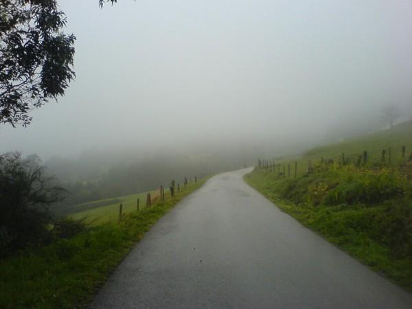 Auch heute in Richtung Vilalba ist der Himmel sehr wolkenverhangen.