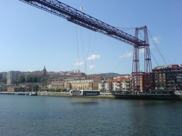 Hängebrücke in Portugalete.