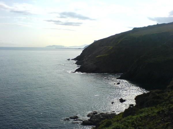 Meer und Küste hinter Portugalete.