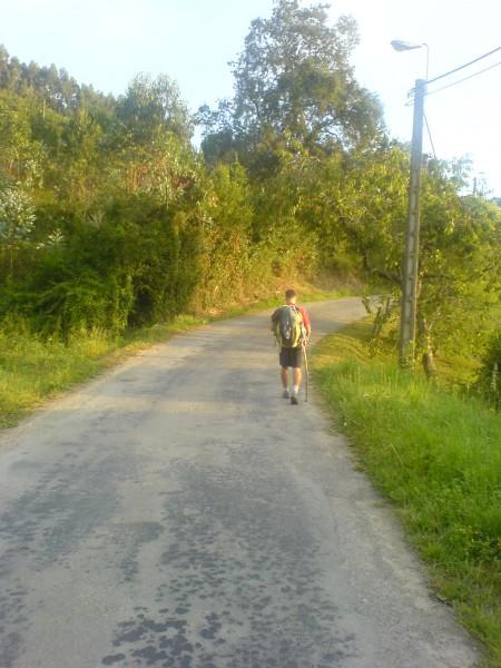 Ein Pilgerfreund auf dem Jakobsweg nach Liendo.