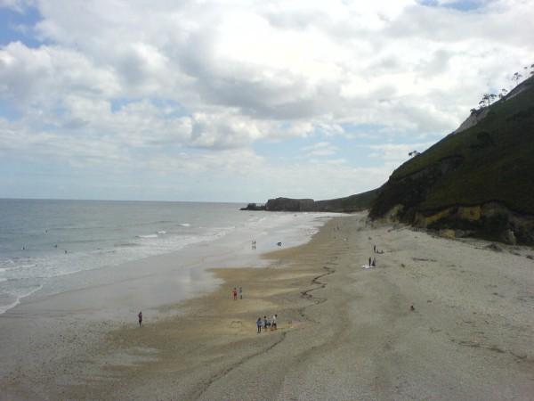 Weiterer einladender Strand-Abschnitt, diesmal auf dem Tagesstück nach Pineres.