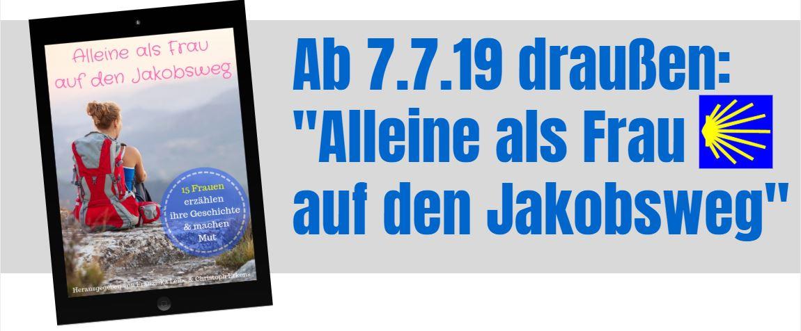 Dieses Foto zeigt das Cover des eBooks Alleine als Frau auf den Jakobsweg
