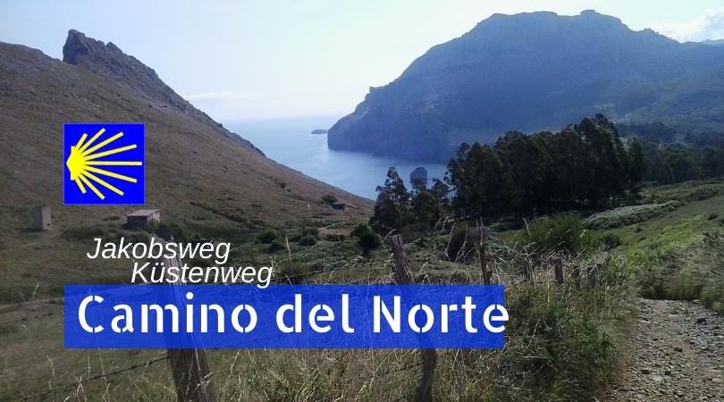 Das Foto zeigt einen Abschnitt auf dem spanischen Jakobsweg Camino del Norte.