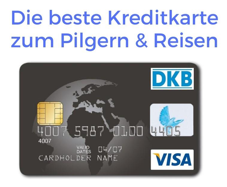 Dies ist ein Foto, das die DKB Kreditkarte zeigt, die zum Pilgern geeignet ist.