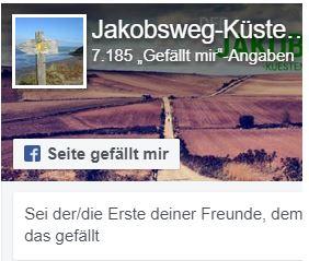 Folge Jakobsweg Küstenweg auf Facebook