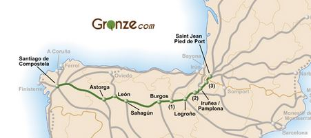Der Camino Frances fängt in St Jean Pied de Port an