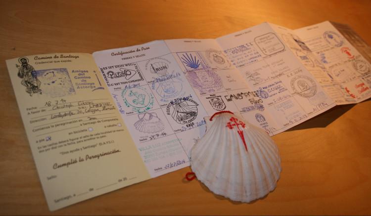Der Pilgerausweis dokumentiert den Jakobsweg