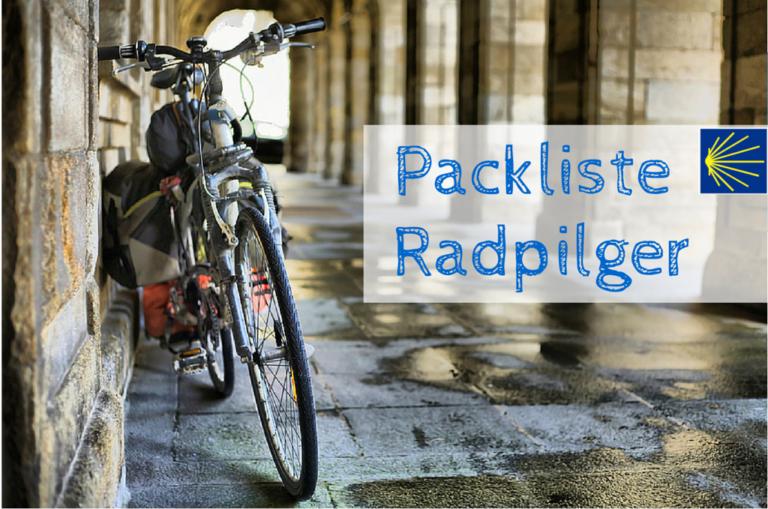 Packliste Jakobsweg mit dem Fahrrad neu