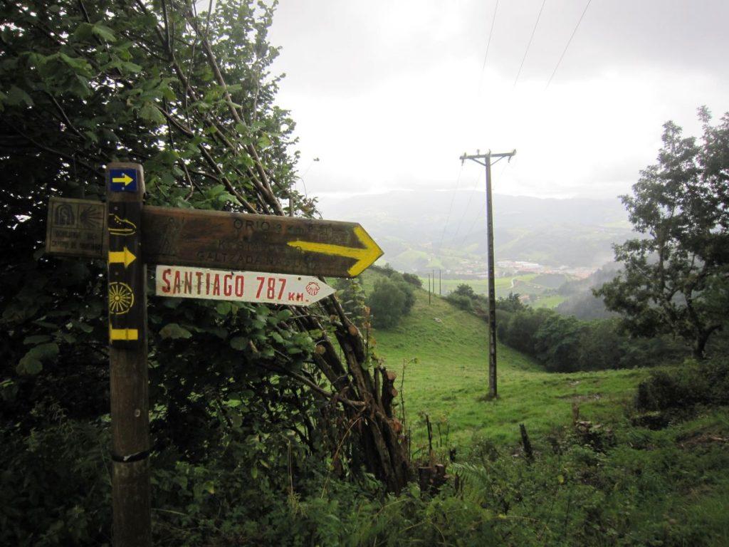 Wegmarkierung am Pilgerweg