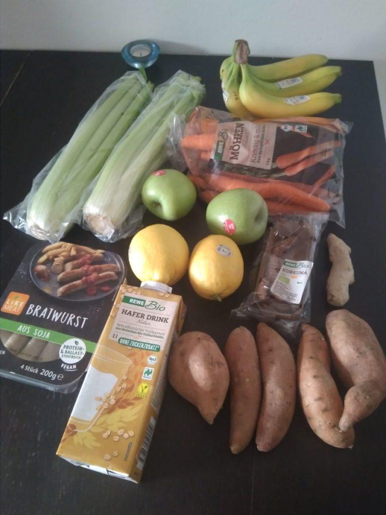 Einkäufe vom Supermarkt