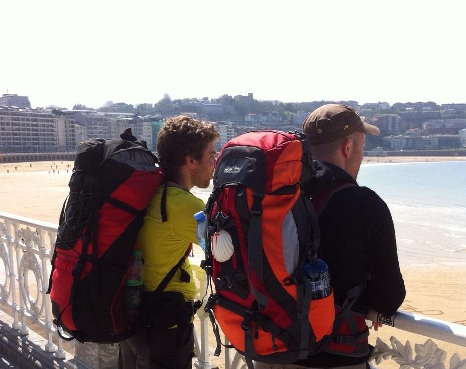 Manu und ich in San Sebastian